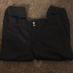 girls black softball pants